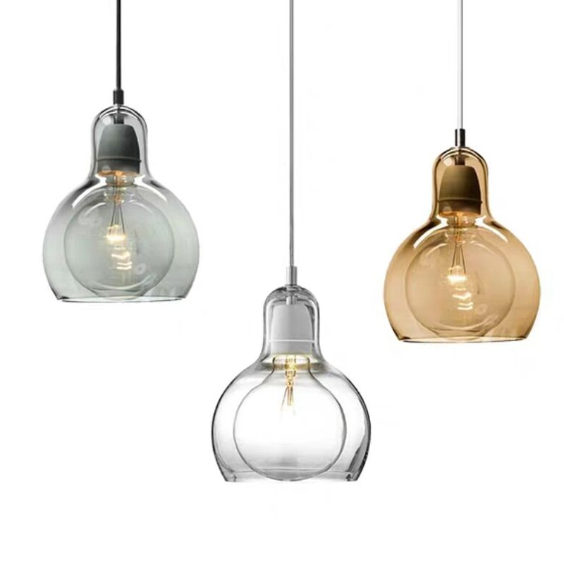 glass bulb pendant lights,different colors available.